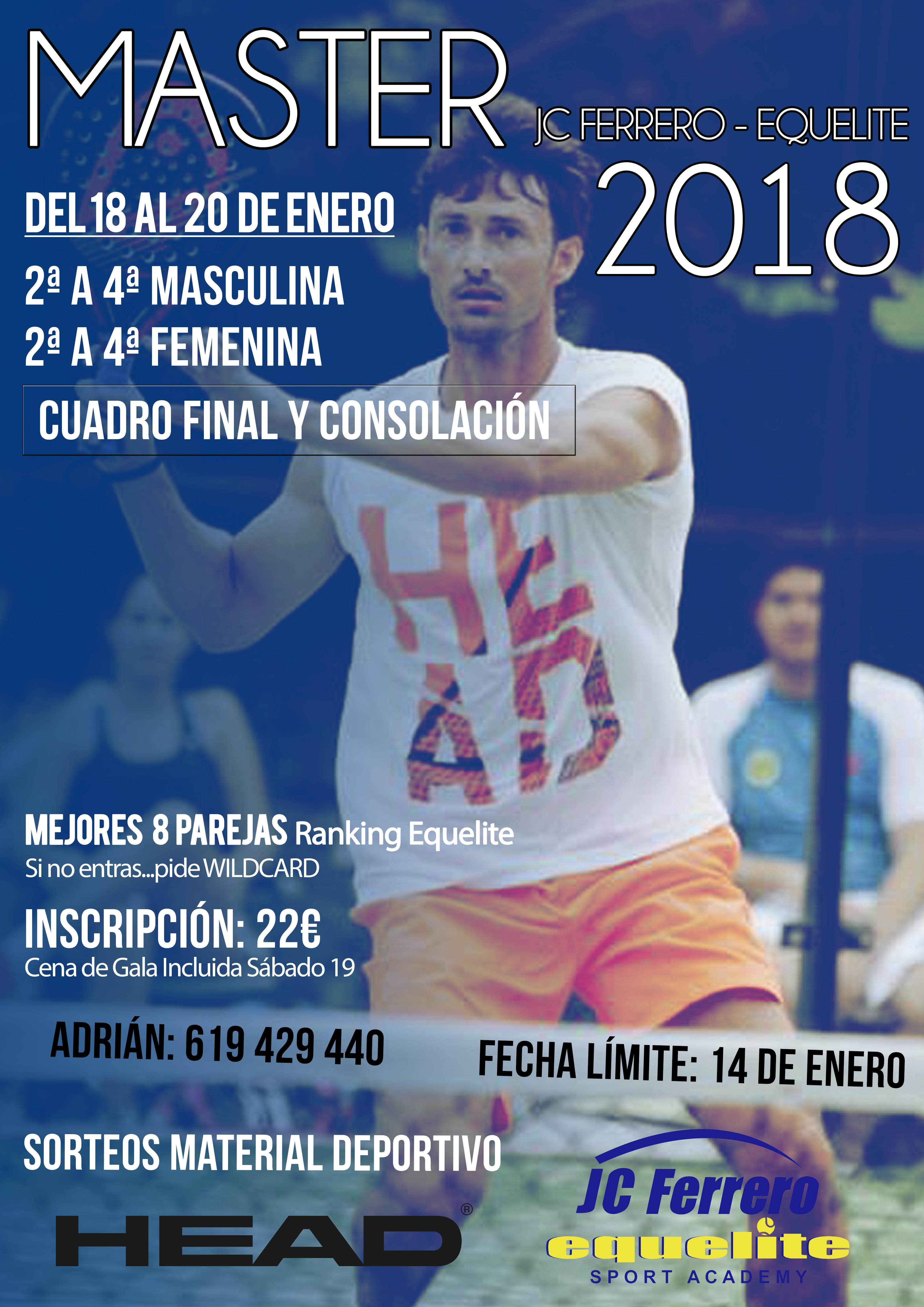 II Master Pádel JC Ferrero-Equelite 2017