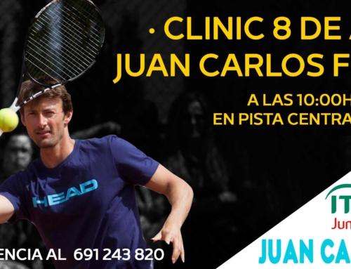 Sábado 8 de abril Clinic con Juan Carlos Ferrero!