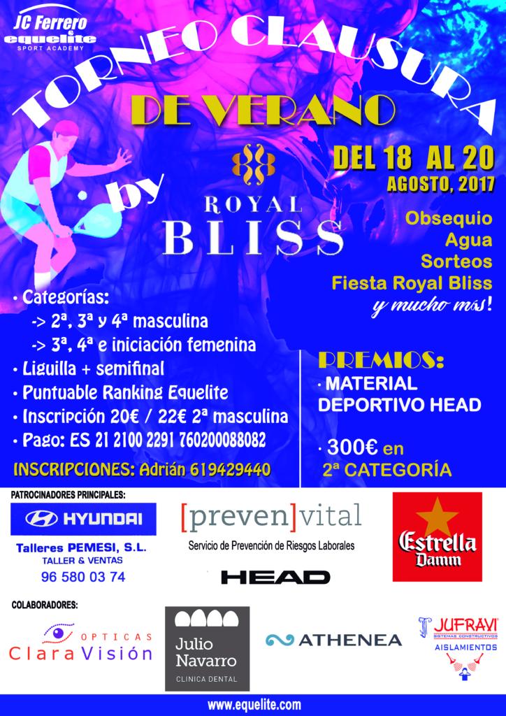 Torneo de Padel Clausura de Verano RoyalBliss