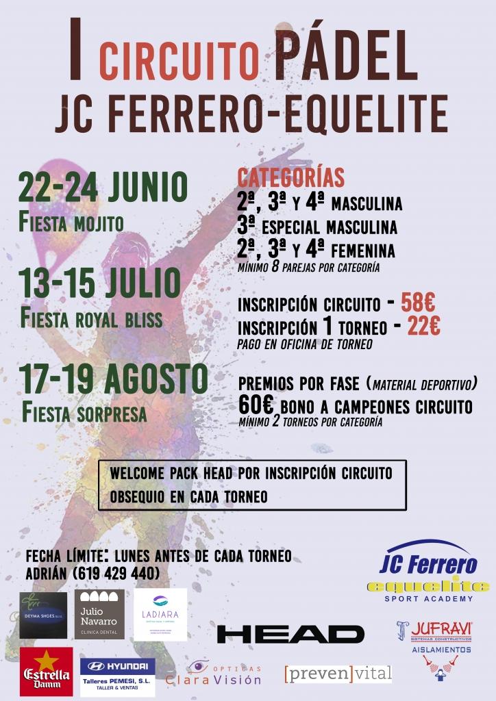 I Circuito Padel JC Ferrero Equelite; 22/24 Junio