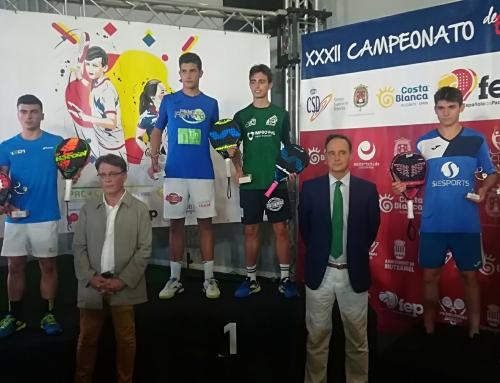 David Martínez se alza con la medalla de bronce en el Campeonato de España de Padel de Menores